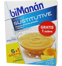 Bimanan Sustitutive Natillas de limon