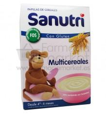 Sanutri Cereales Papilla Multicereales Bifidus 600 gramos