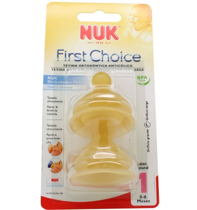 Nuk Tetina First Choice Latex L1 Cereales 0-6 meses
