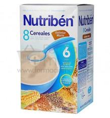 Nutriben Cereales Papilla 8 cereales con galleta 600 g