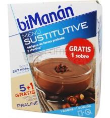 Bimanan Sustitutive Natillas Praliné 5 unidades