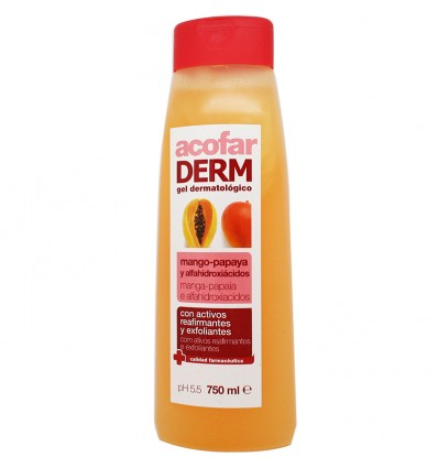 Acofarderm Gel de Baño Mango Papaya 750ml