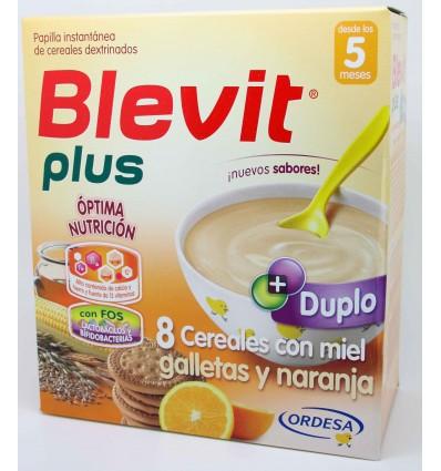 Blevit Plus Duplo 8 Cereales Miel Galleta Naranja 600 g
