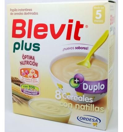 Blevit Plus Duplo 8 Cereales Natillas 600 g