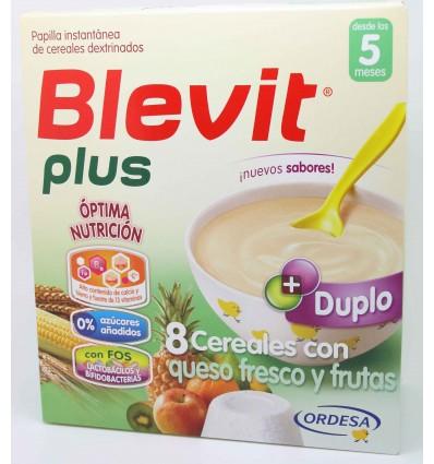Blevit Plus Duplo 8 Cereales Queso Frutas 600 g
