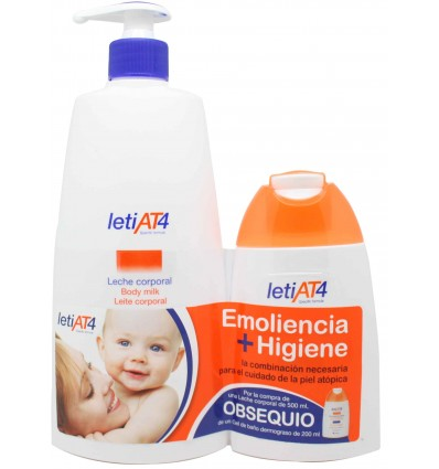 Leti At-4 leche corporal pack 500 ml
