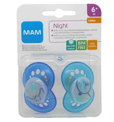 Mam baby Chupete Night latex azul azul