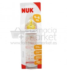 Nuk Biberon Latex Cristal 1M 240 ml