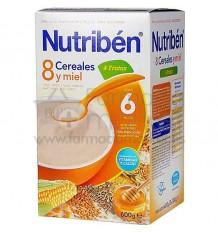 Nutriben Cereales Papilla 8 cereales miel 4 frutas 600g