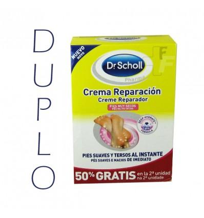 Dr scholl Crema Reparadora Pies Muy secos DUPLO