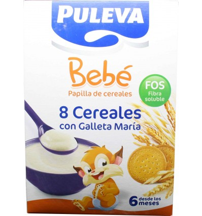 Puleva bebe 8 cereales galleta maria 600 g