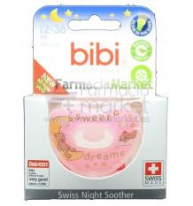 Bibi Chupete Silicona Noche Rosa 12-36 meses