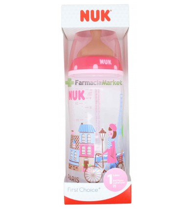 Nuk Biberon Latex Travel 1M Niña 300ml