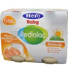 Pedialac Hero Potito Merienda platano y mandarina con yogur 2x200g