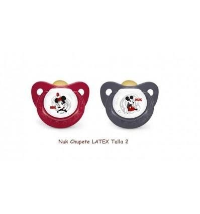 Nuk Chupete Látex Mickey T2 1 unidad