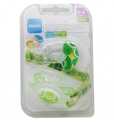 Mam Baby Pack Original Chupete Clip Verde