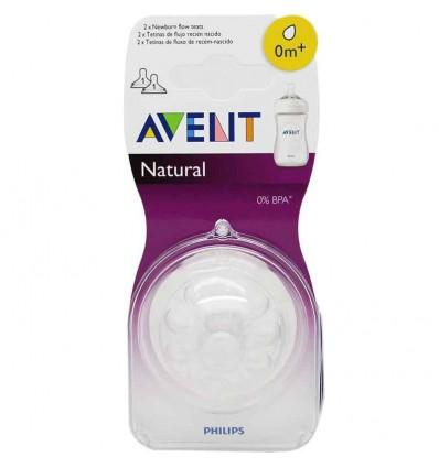Avent Natural Tetina Recien Nacido 2 unidades
