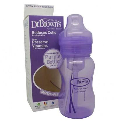 Dr Browns Biberon Boca Ancha Morado 240 ml