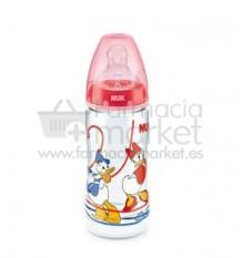 Nuk Biberon Silicona Pato Donald 2L Rojo 300ml