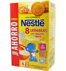 Nestle Cereales Papilla 8 cereales con galleta 900g