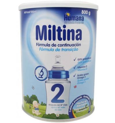 miltina 2 leche continuación 800 gramos