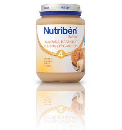 Nutriben Potito Manzana Naranja Platano Galleta 200 g