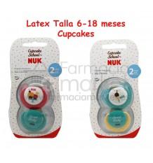 Nuk Chupete Latex Cupcakes T2 2 unidades