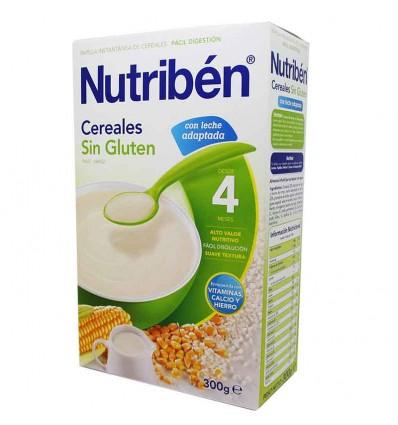 Nutriben Cereales Papilla Sin Gluten con Leche Adaptada 300 g