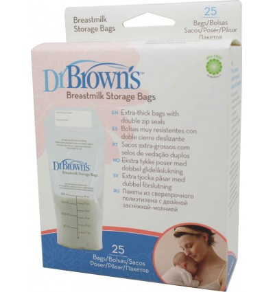 Dr Browns Bolsas de Almacenar Leche Materna 25 unds