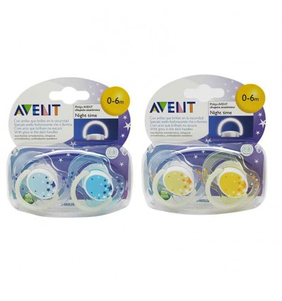 Avent Chupetes Nocturnos 0-6 meses