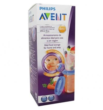 Avent Via recipientes alimentos 240 ml