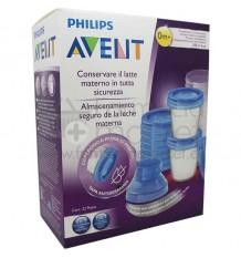 Avent Via Recipientes Leche Materna 180 ml 10 unidades SCF618/10