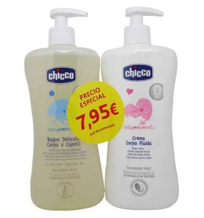 Chicco Pack Gel Limpiador+Crema Cuerpo