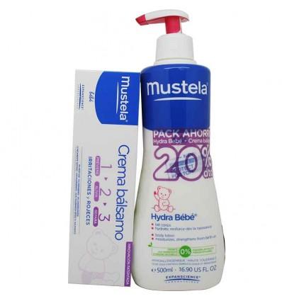 Mustela Bebe Hydra Bebe Cuerpo 500 ml Pack