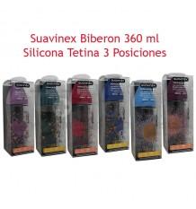 Suavinex Haute Couture Biberon Silicona 3P 360 ml