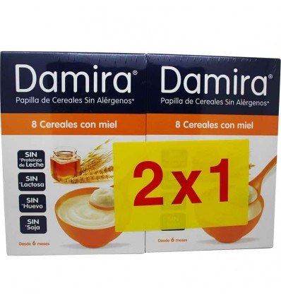 Damira 8 cereales miel envase duplo