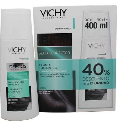 Dercos Vichy Champu Seborcorrector Duplo Ahorro Promocion