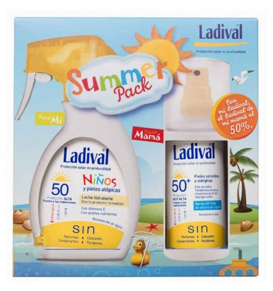 Ladival Summer pack spray Niños 50 200 ml spray adultos 50 150 ml