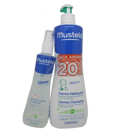 Mustela Gel Dermo Limpiador 750 ml Pack Colonia