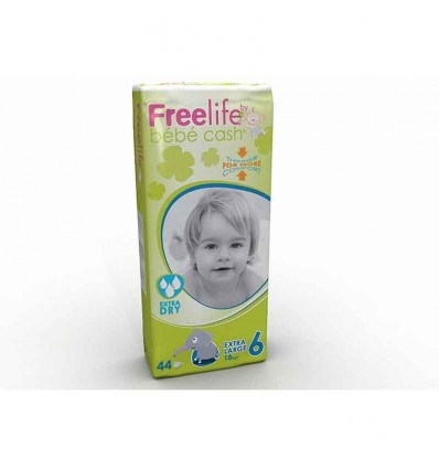 Freelife Bebe Cash Pañal Talla 6 +18 Kg 44 unidades