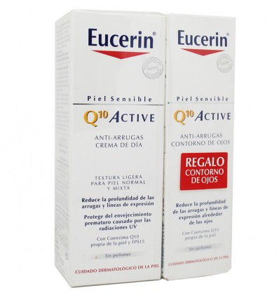 Eucerin Q10 Active Fluido 50ml Contorno Gratis