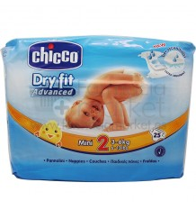 Chicco Pañales Mini Talla 2 3-6 kg 25 Unidades