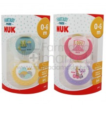 Nuk Chupete Latex Fantasy Park T1 2 unidades