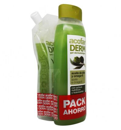 Acofarderm Gel de Baño Aceite de Oliva 750 ml Pack Ecopack