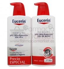 Eucerin Locion Gel de Baño 400 ml Pack