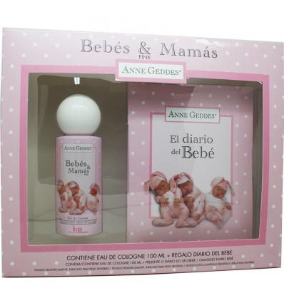 Bebes & Mamas Estuche Rosa Colonia Diario de bebe