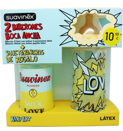 Suavinex Pack Biberon Latex Pop Baby Art