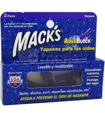 Macks Tapones Aquablock 2 pares