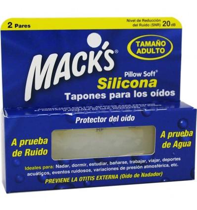 Macks Tapones Silicona Adulto 2 Pares