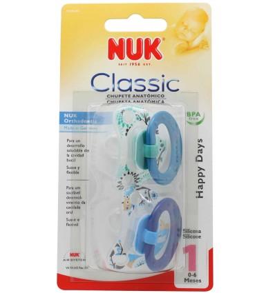 Nuk Chupete Silicona Classic T1 0-6 2 unidades